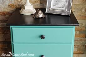 update an old nightstand with yummy metallic cream small home soul