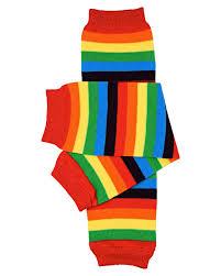 amazon com judanzy rainbow stripe baby u0026 toddler leg warmers for