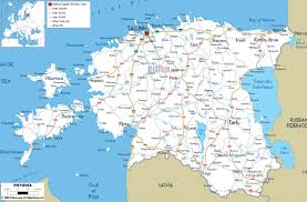 Map Of Spain With Cities by Maps Of Estonia Detailed Map Of Estonia In English Tourist Map