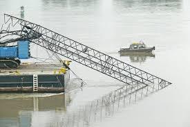 video overheight crane strikes golden ears bridge maple ridge news