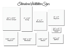 wedding invitations size wedding invitation size marina gallery