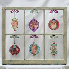 Puffy Paint Christmas Window Decorations by Christmas Window Decoration Craft This Stained Glass Display With