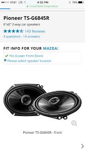 Crutchfield Audio Equipment Nc Good 6x8 Speakers Recommendations Mx 5 Miata Forum