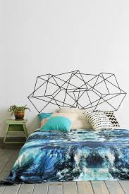 geo fab wall decal that doubles as a decorative headboard super