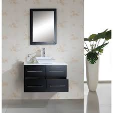solid wood bathroom vanity wall mount espresso ag x022