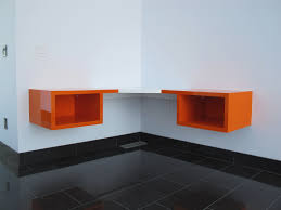 furniture inspiring ideas of floating corner desk to create