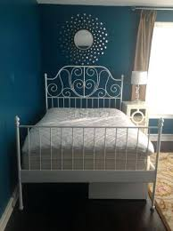 Ikea White Metal Bed Frame Metal Bed Frame White Idea White Metal Bed Frame Furniture