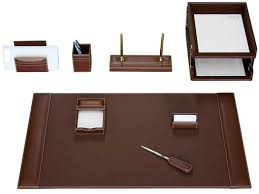 Leather Desk Organizers Desk Sets Personalized Desktop Accessory