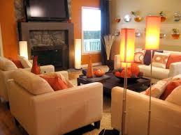 Burnt Orange Sofa Living Room Contemporary With Bright Colors - Orange living room set