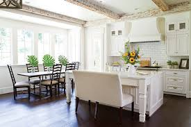 distressed whitewashed kitchen island cottage kitchen