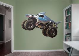monster truck show edmonton megalodon wall decal shop fathead for monster trucks decor