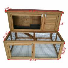 deluxe wooden chicken coop backyard nest box pet cage 48