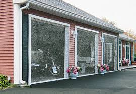 Garage With Screened Porch Retractable Garage Door Screens Screenex