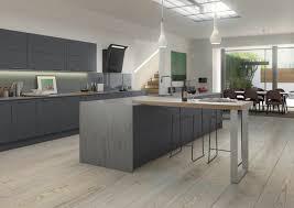 cuisine gris ardoise stunning cuisine blanc mur gris et contemporary design grise