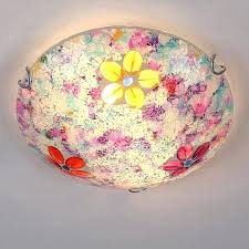 Flush Ceiling Lights For Bedroom Flush Ceiling Lights For Bedroom Stunning Colorful Stained Glass
