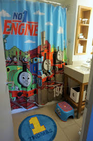 all aboard thomas and friends pop up hotel suite from the shower curtain to the floor mat and even a thomas toothpaste and toothbrush set it looked amazing personally i loved seeing
