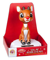 reindeer on the roof rudolph the nosed reindeer solar powered