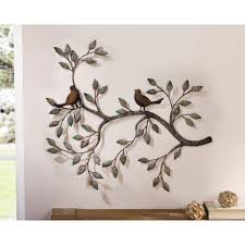 24 in x 18 5 in metal branches w birds and leaves decorative