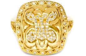 Monogram Rings Gold Tacori Monogram Bridal Necklace