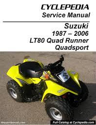 suzuki lt80 quadsport kawasaki kfx80 cyclepedia printed service
