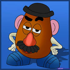draw potato head step step disney characters