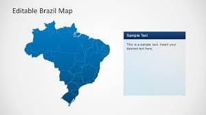 map of brazil editable brazil map template for powerpoint slidemodel