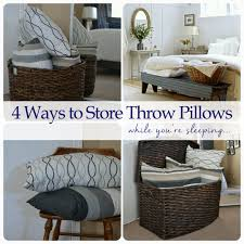how to store pillows 4 ways to store throw pillows while you re sleeping best of