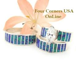 American Wedding Rings by Native American Wedding Ring Sets For Him And Her Four Corners