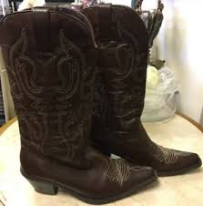womens xappeal boots xappeal rondy brown faux leather s cowboy boots size 10m ebay
