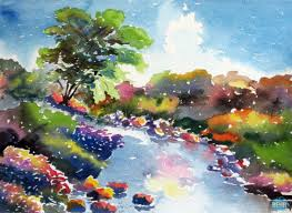 landscape paintings watercolor paintings watercolor artwork