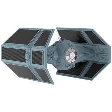 wars darth vader s tie fighter sound ornament with light