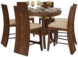 Milan Mid Tone Triangular High Table   Wood Barstools Dining - Triangular kitchen table