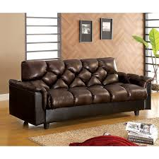 Mainstays Sofa Bed Furniture Fabulous Faux Leather Futon For Living Room Decor