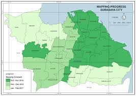 map of surabaya concludes city wide mapping project in surabaya key results