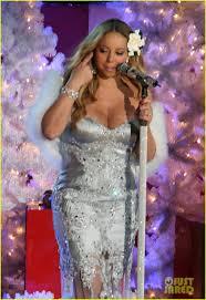 mariah carey rockefeller christmas tree lighting performance