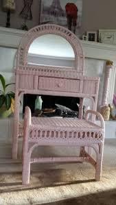 Wicker Vanity Set Vintage Wicker Vanity Set Includes Desk Chair Mirror And Custom