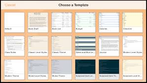 omnioutliner 2 9 for ios user manual working with templates and