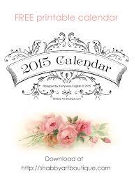 printable art calendar 2015 free printable 2015 calendar shabby art boutique