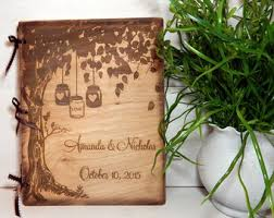 engraved wedding guest book guest book wedding etsy