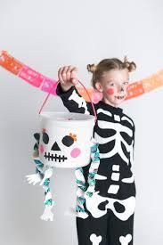 Glow In The Dark Skeleton Costume Mer Mag Diy Glow In The Dark Skeleton Treat Bucket Mer Mag