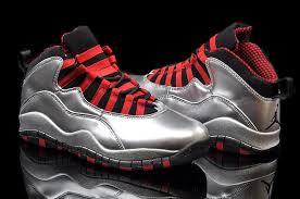 onlin air jordan 10 mens shoes silver gray red and black stripes onlin
