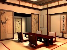 traditional japanese sliding doors and tables