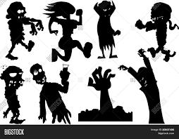halloween monsters silhouettes of halloween monsters stock vector u0026 stock photos
