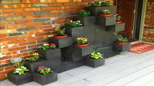 inspirations how to build a cinder block planter wall cinder