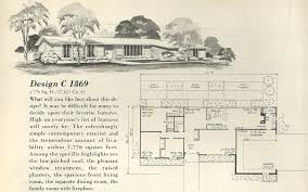 vintage house plans more mid century single story homes home