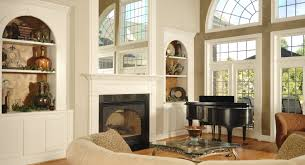 living room chair rail molding design for white fireplace mantel