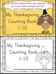 thanksgiving interactive counting book representation
