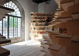 Unique Bookshelf Climbable Bookshelf Exhibits Unique Bookshelf Design