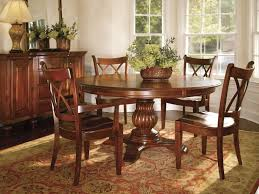 furniture elegant dining room design with pedestal dining table