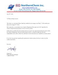 northernchem reference letter